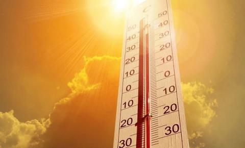 Alta temperatura prevista para amanhã