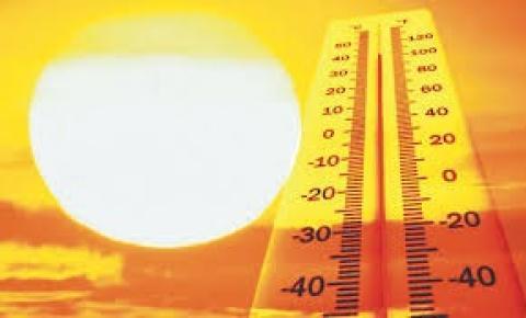 Sábado com muito calor na região