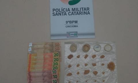 Polícia Militar prende feminina por tráfico de drogas em Criciúma