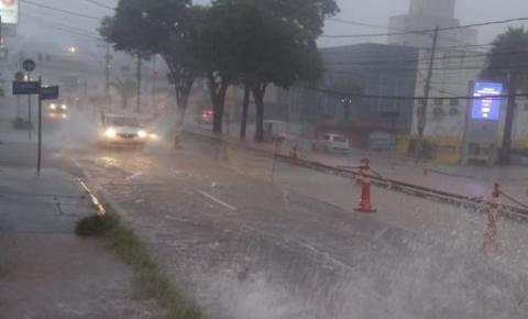 Chuva pode provocar alagamentos em algumas áreas da região