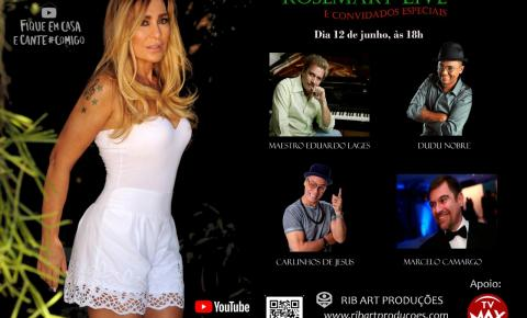 Acompanhe nesta sexta-feira a live da cantora Rosimery