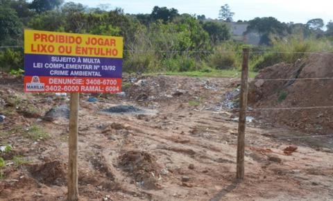 Prefeito de Marília cerca áreas de descarte irregular