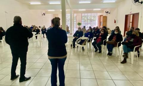 Agentes comunitárias de saúde de Cocal do Sul recebem qualificação